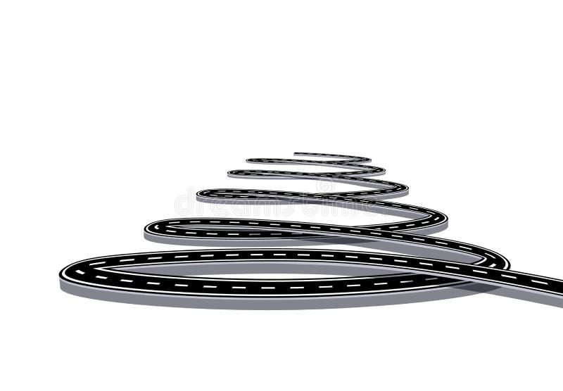 Infographie La route à l'avenir est stylisée sous forme de spirale D'isolement sur le fond blanc Illustration illustration stock