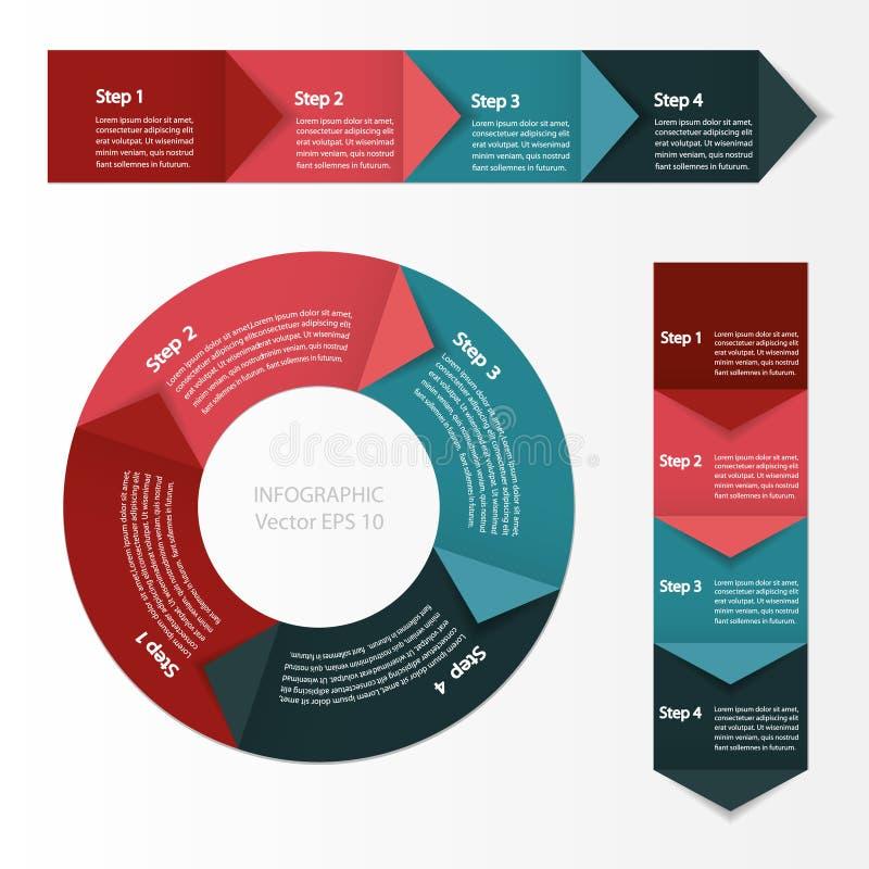 Infographie Module de diagramme de processus illustration stock