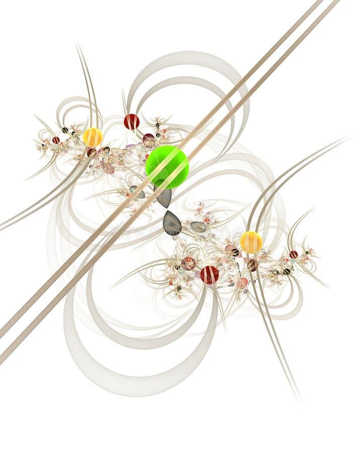Infographies : Marbres sur des lignes et courbes avec des fleurs illustration stock