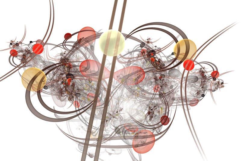 Infographies : Marbres sur des lignes et courbes avec des fleurs illustration de vecteur