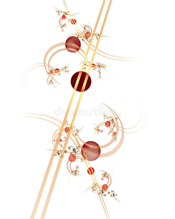 Infographies : Marbres sur des lignes et courbes avec des fleurs illustration libre de droits