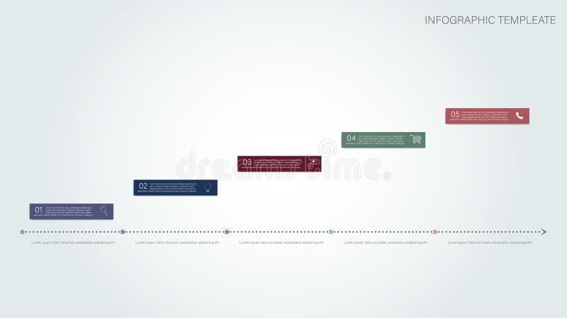 Infogrfphic Datos de negocio Datos de Digitaces Muestra de la idea stock de ilustración