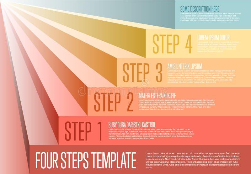 Infogrpahic steps diagram template. Vecotr Infogrpahic steps diagram template for workflow, business schema or procedure diagram stock illustration