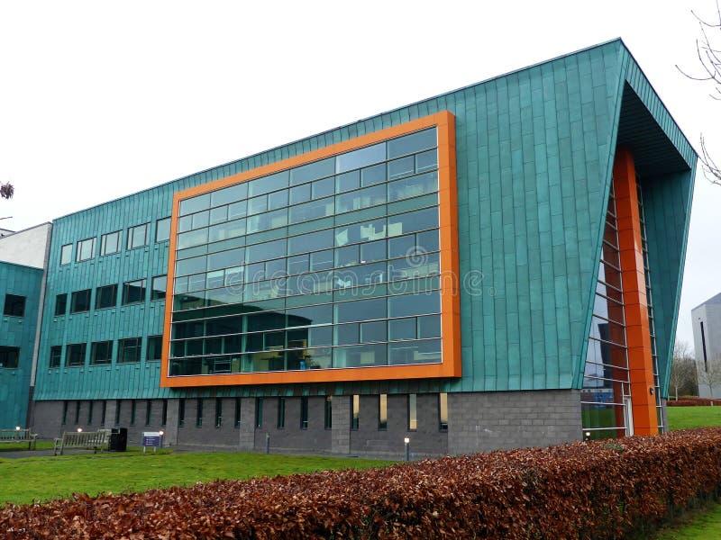 InfoLab21 szko?a Oblicza? i Teletechniczny, Lancaster uniwersytet, po?udnie przeja?d?ka, Bailrigg, Lancaster zdjęcie royalty free