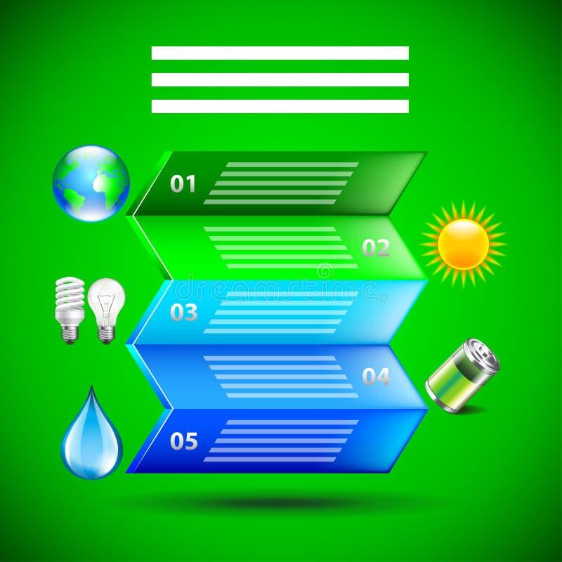 Inforgaphics del ambiente, papel doblado stock de ilustración