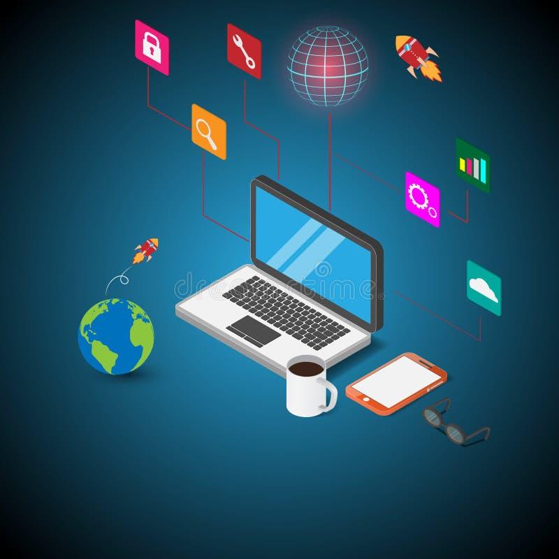 Inform tica 3d comunicaciones dise o plano ilustraci n for Diseno arquitectonico informatica