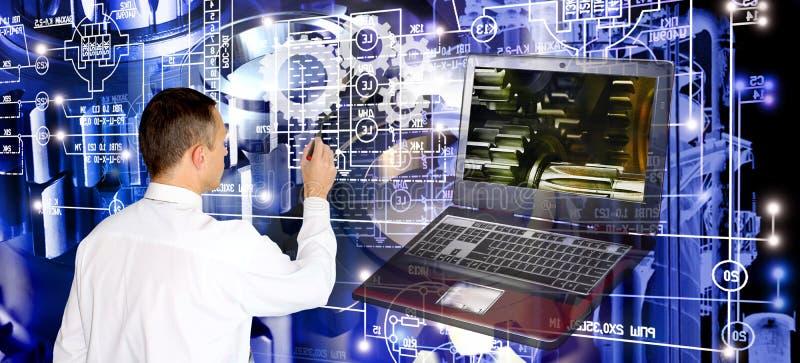 Informática da fabricação da engenharia fotografia de stock