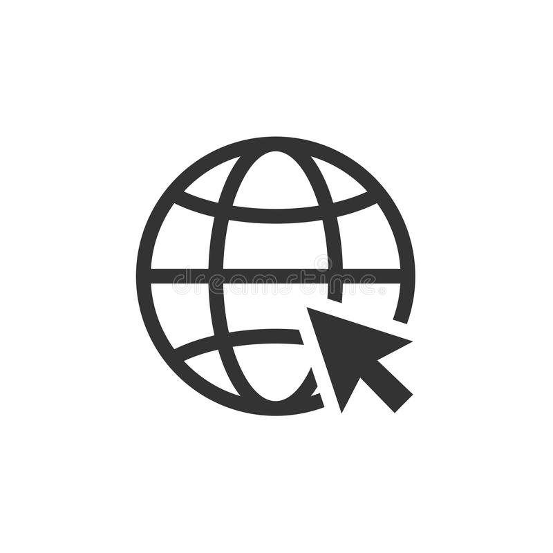Informática do Internet e do ícone do Internet? Vá à ilustração do vetor do sinal da Web ilustração stock