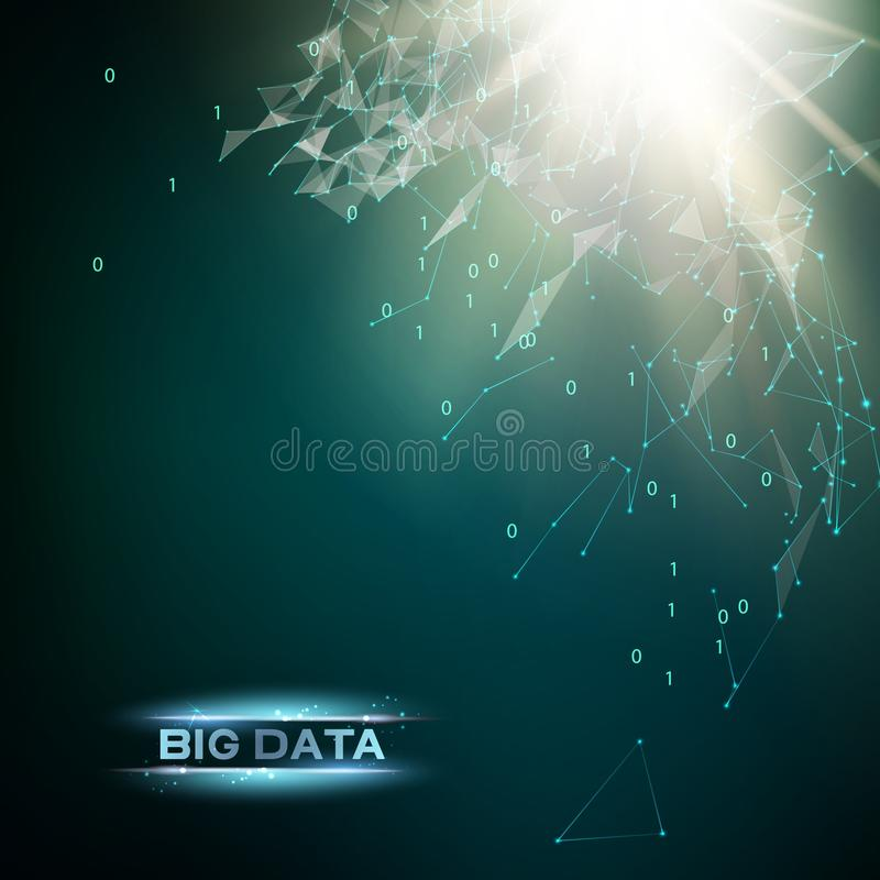 Informática e dados grandes ilustração royalty free