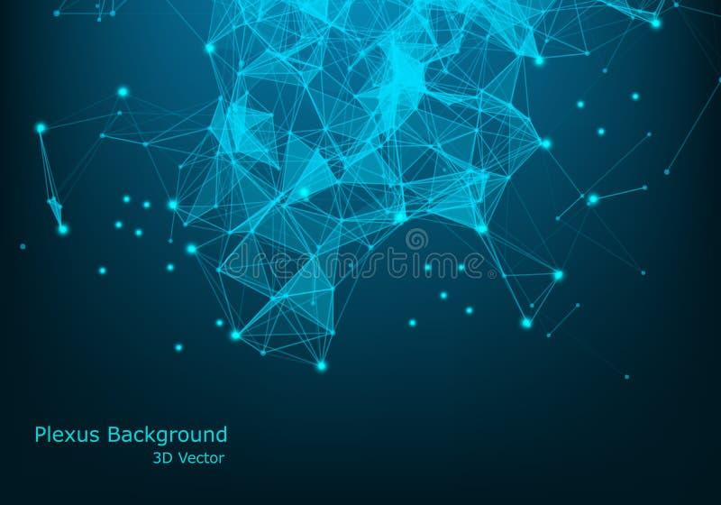 Informática e dados grandes Código abstrato do projeto da informação no estilo futurista Tela moderna industrial Cyber de Digitas ilustração royalty free