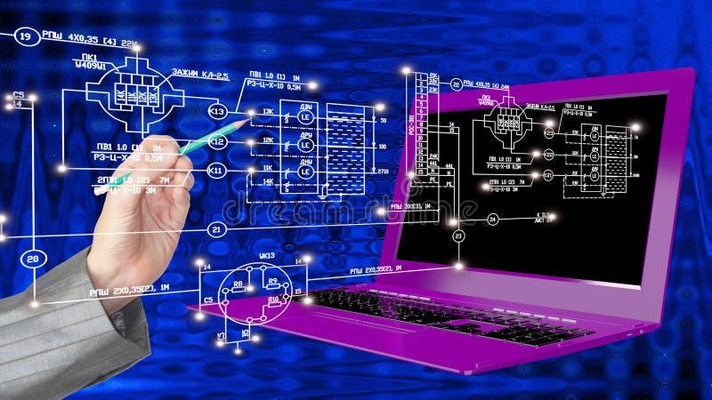informática moderna de la ingeniería de la innovación fotos de archivo