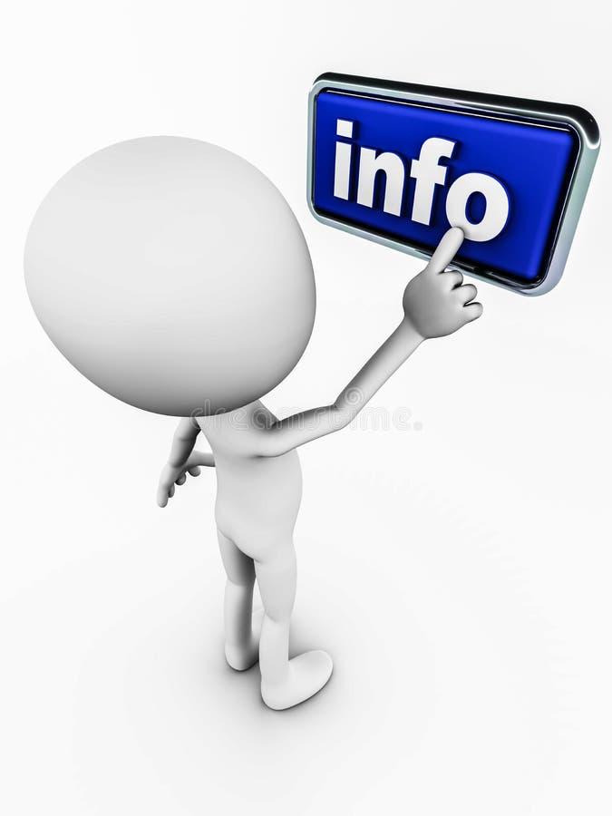 Informação ilustração stock