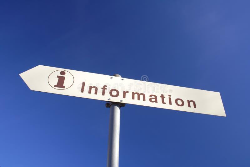 Informação fotografia de stock