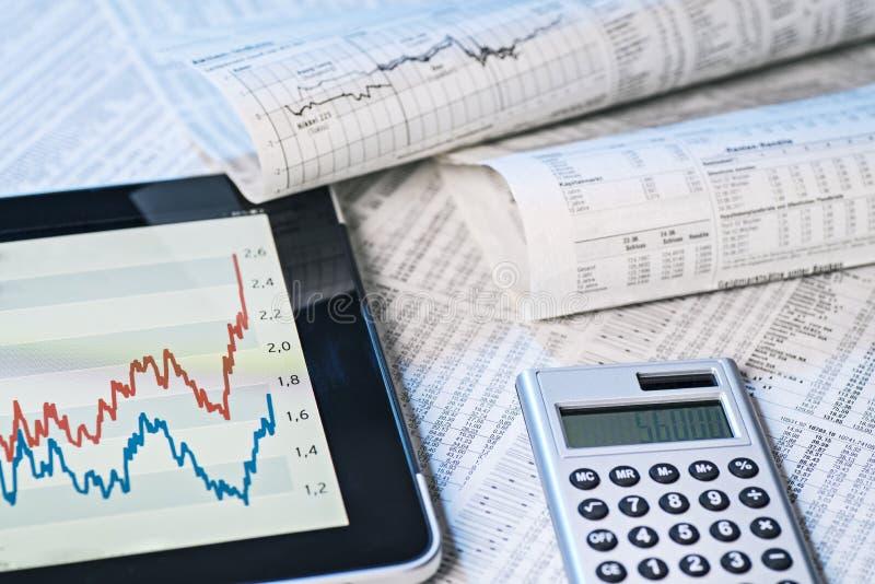 Informação da bolsa de valores fotos de stock
