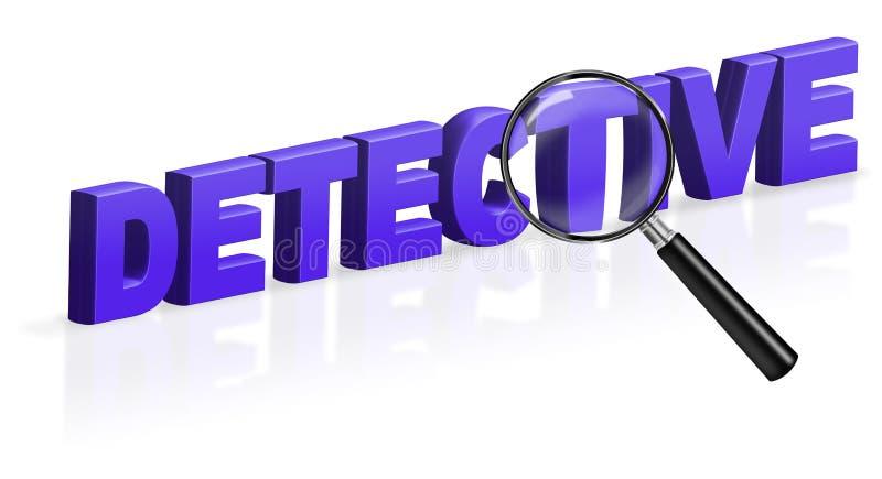 Informação da investigação da pesquisa do detetive ilustração stock