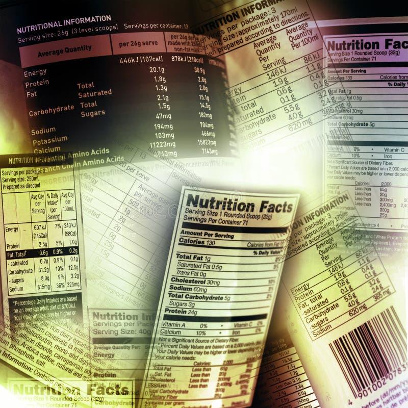 Informação da nutrição foto de stock