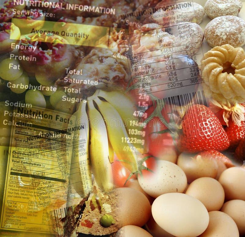 Informação da nutrição fotografia de stock