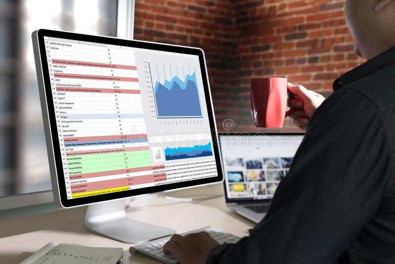 informação de negócios Technol das estatísticas da analítica dos dados duros do trabalho imagens de stock