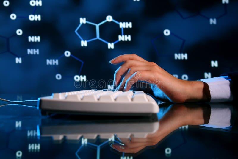 Informação do ADN imagem de stock royalty free