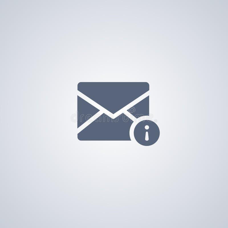 A informação do email, informação do correio, vector o melhor ícone liso ilustração do vetor