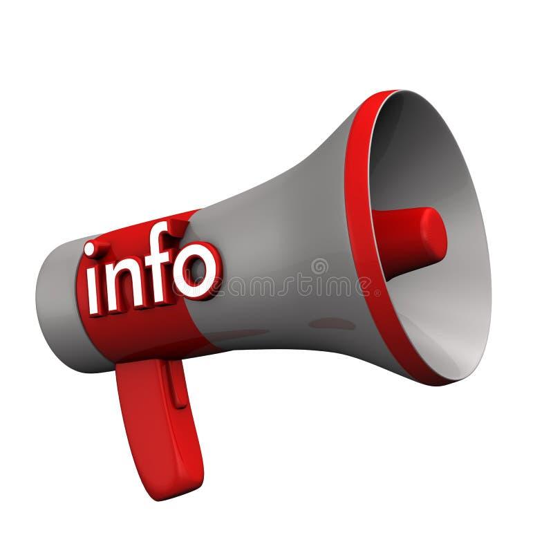 Informação do megafone ilustração do vetor