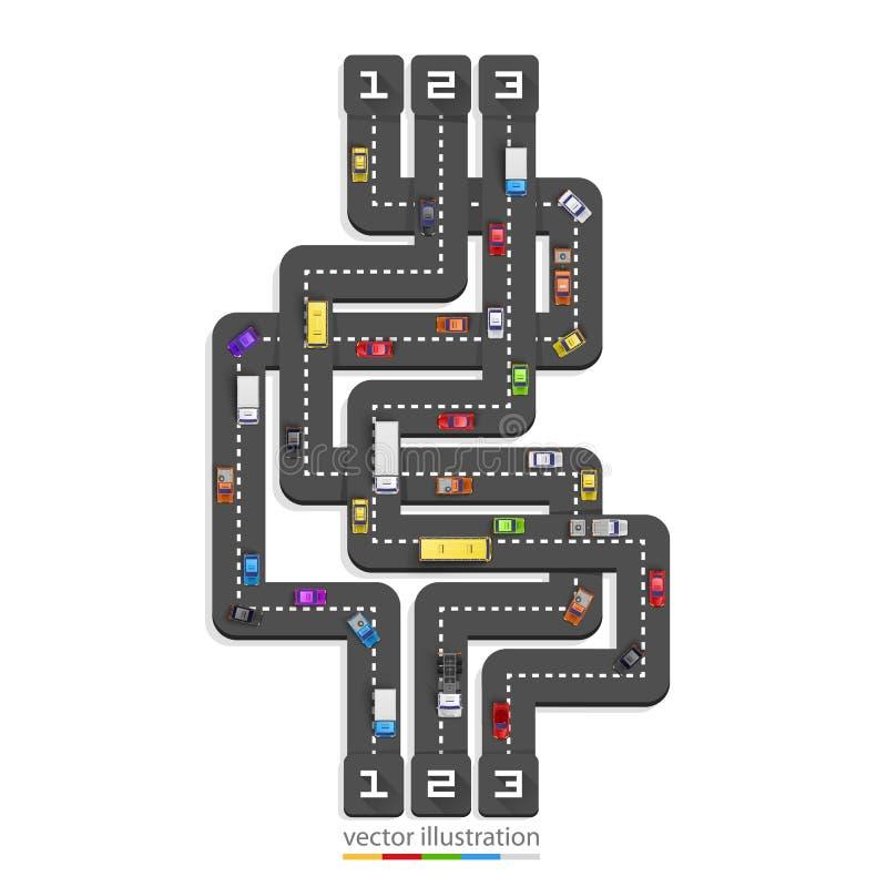 Informação do ponto da estrada ilustração do vetor