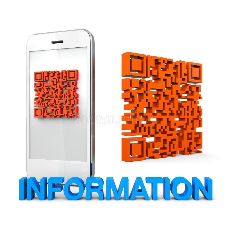 Informação do telefone móvel de QRcode ilustração royalty free