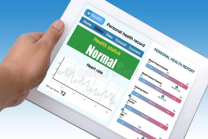 Informação eletrônica da saúde. foto de stock royalty free