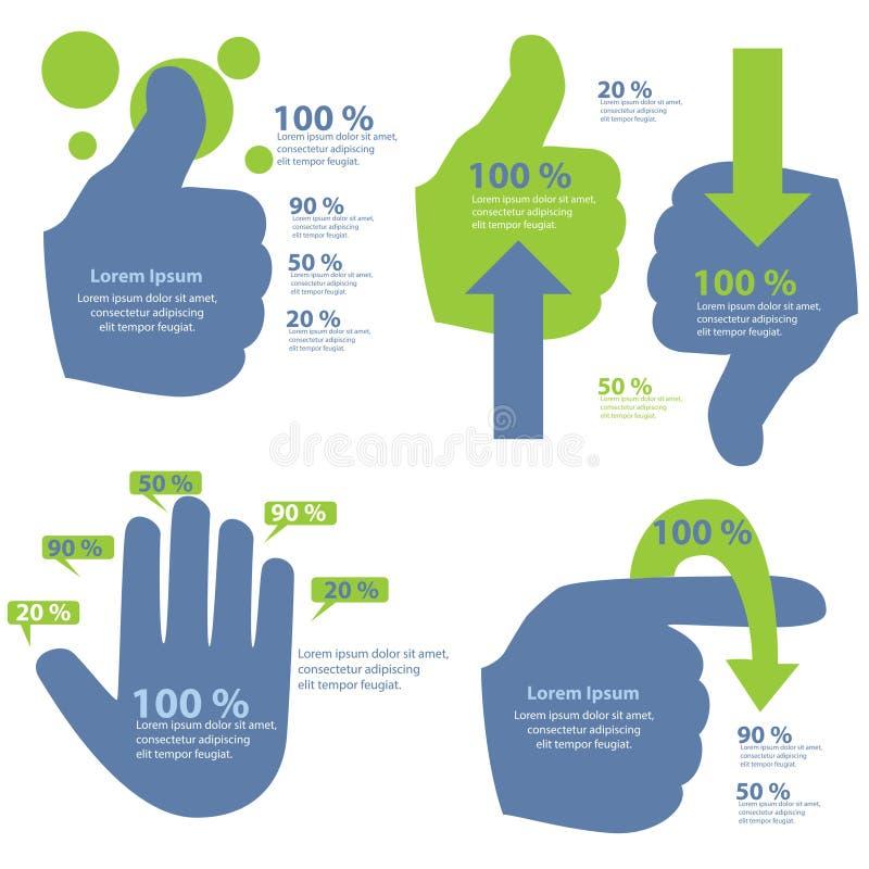 Informação-gráfico da mão ilustração stock
