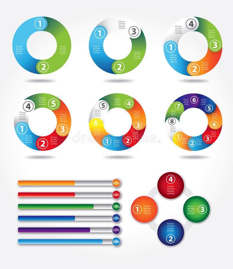 Informação-gráficos ilustração royalty free