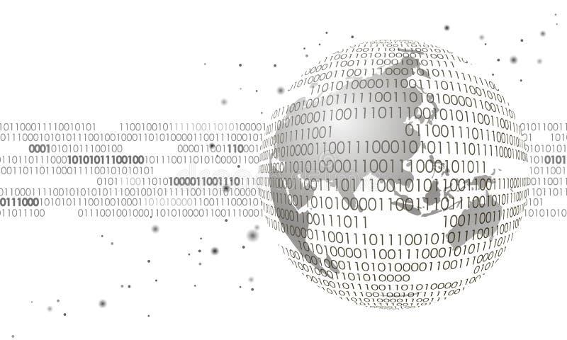 Informação internacional global da conexão de intercâmbio de dados Projeto futuro moderno da operação bancária da finança da tecn ilustração stock