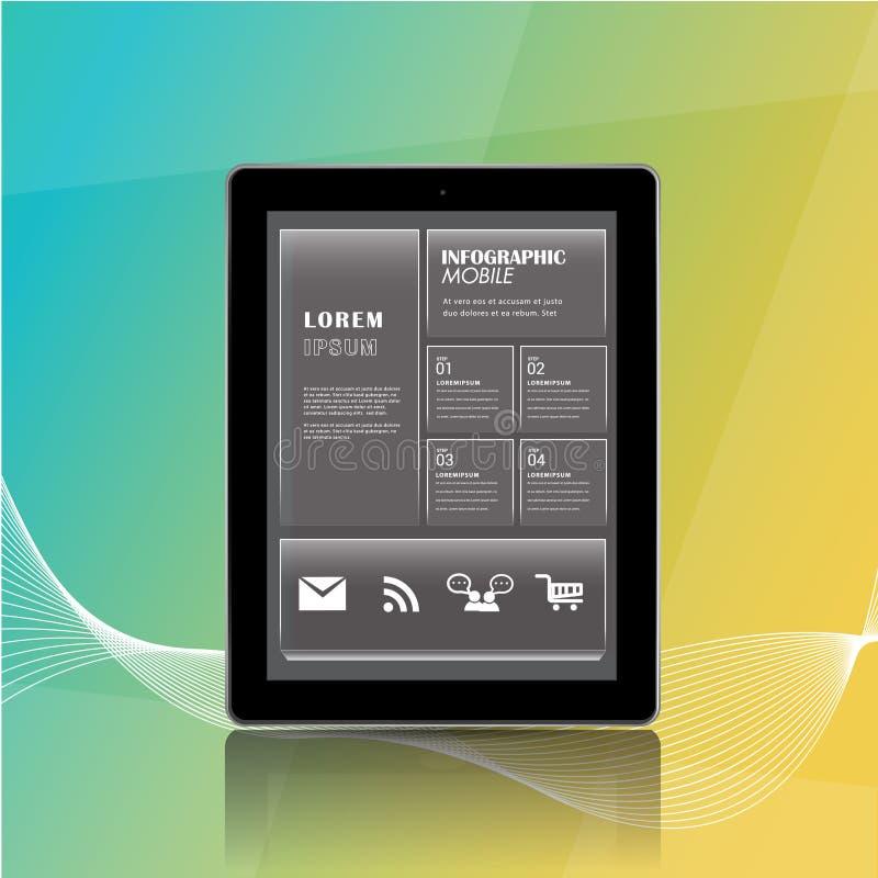 Informação móvel dos apps infographic ilustração do vetor