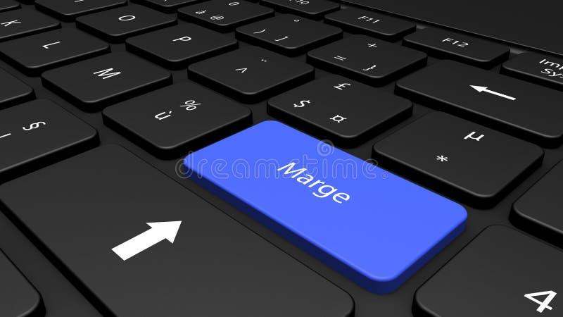 Informação no teclado ilustração royalty free