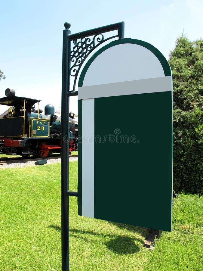 A informação pública assina dentro o parque imagens de stock