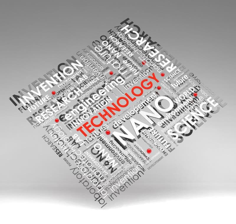 Informação-texto da tecnologia (nuvem), ilustração com s ilustração do vetor