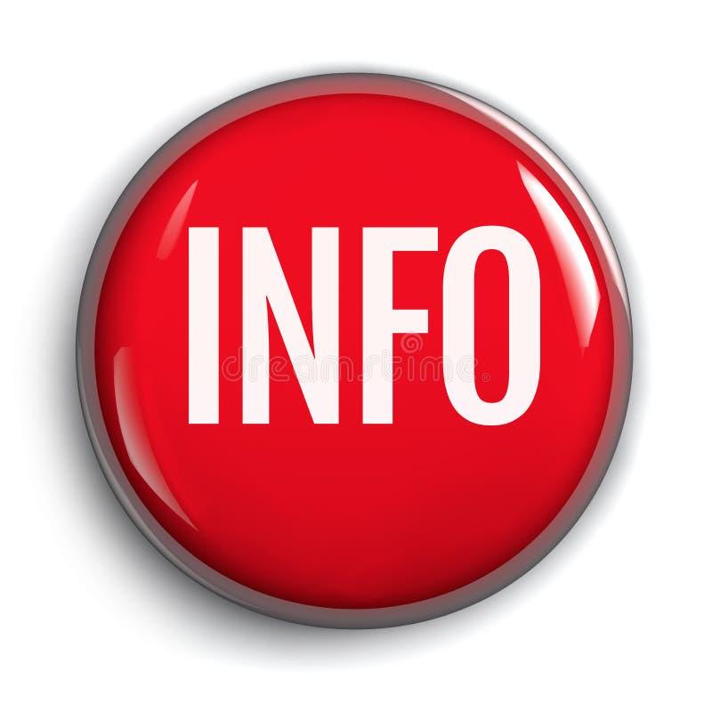 Informação vermelha em volta do botão isolado ilustração royalty free
