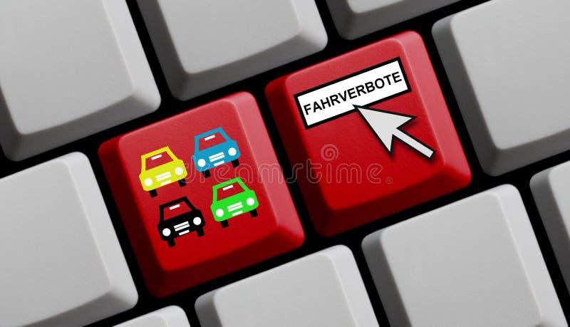 Informações sobre a condução da proibição no idioma alemão em linha imagem de stock