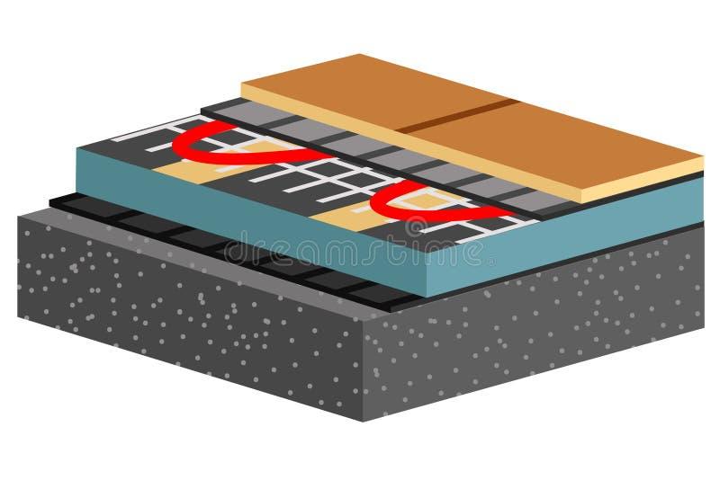 Información concreta de la estructura de piso en cartel cortado libre illustration