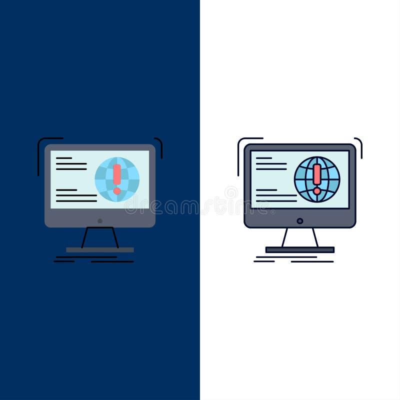 información, contenido, desarrollo, página web, vector plano del icono del color de la web stock de ilustración