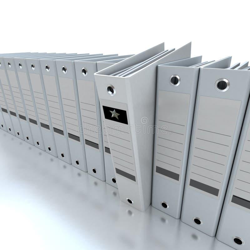 Información de archivaje y de organización ilustración del vector