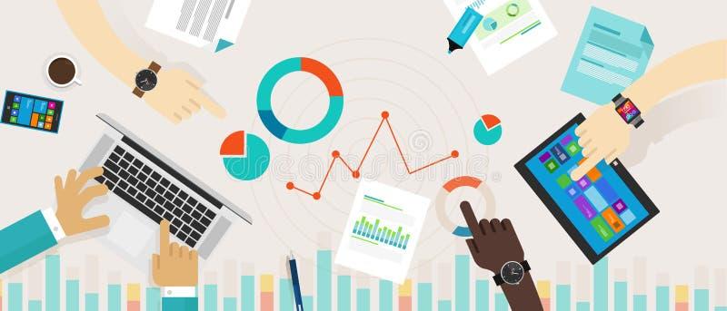 Información de datos de la carta del gráfico de barra Infographic libre illustration