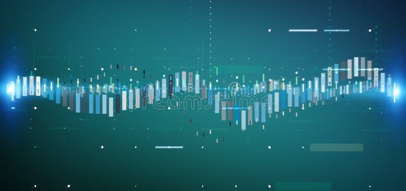Información de datos del comercio de bolsa de acción del negocio aislada en un b libre illustration