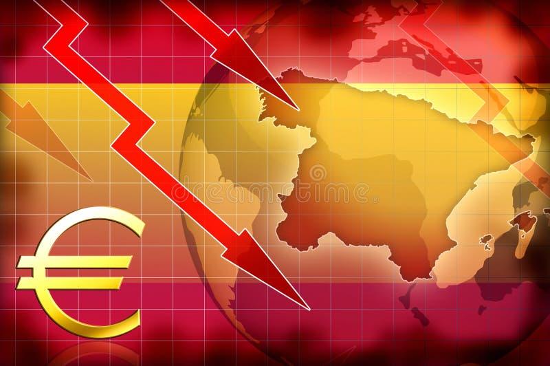 Información de fondo de la crisis de España ilustración del vector