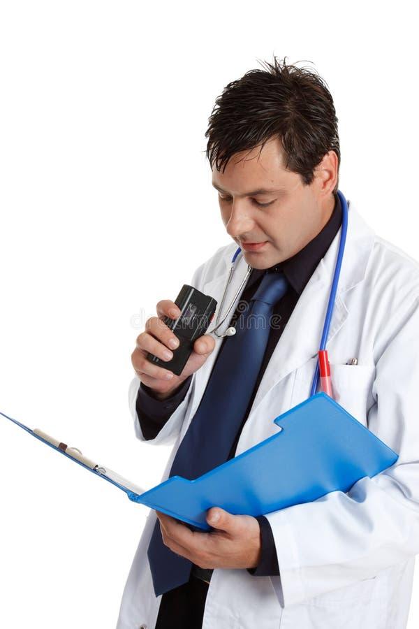 Información de grabación del doctor fotos de archivo
