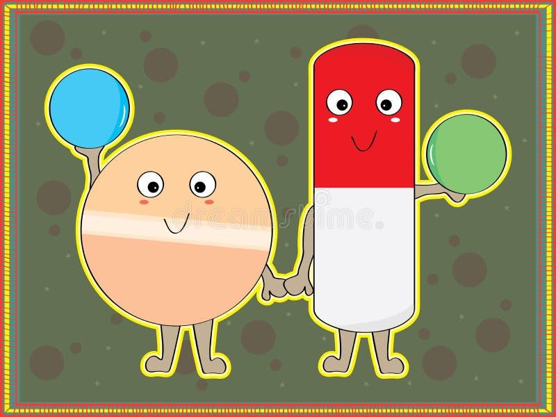 Download Información de la píldora ilustración del vector. Ilustración de fondo - 42438575