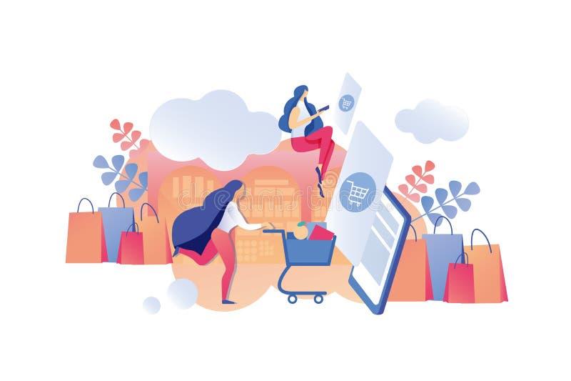 Información de las ventas de la aplicación móvil del ejemplo ilustración del vector