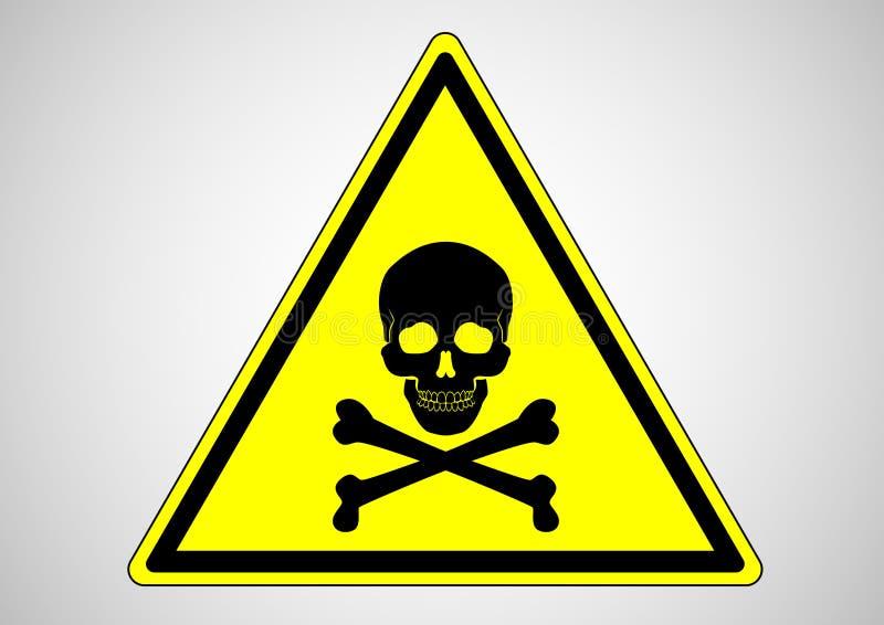 Información del área de la muerte con símbolo del cráneo libre illustration
