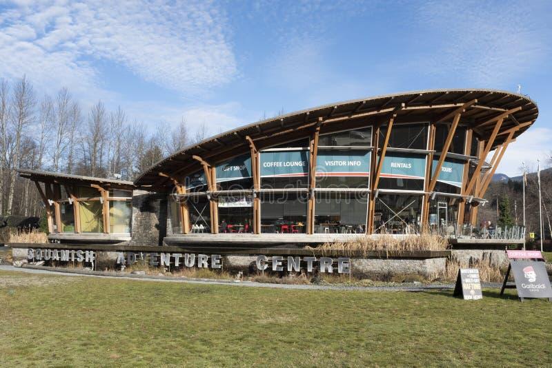 Información del visitante del centro de la aventura de Squamish fotos de archivo libres de regalías