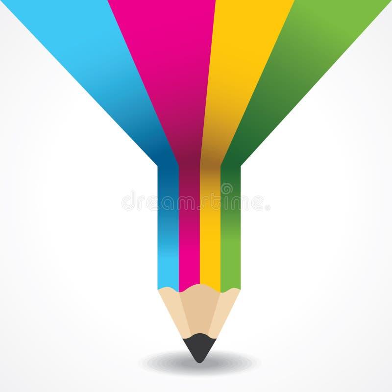 Información-gráfico creativo del lápiz stock de ilustración