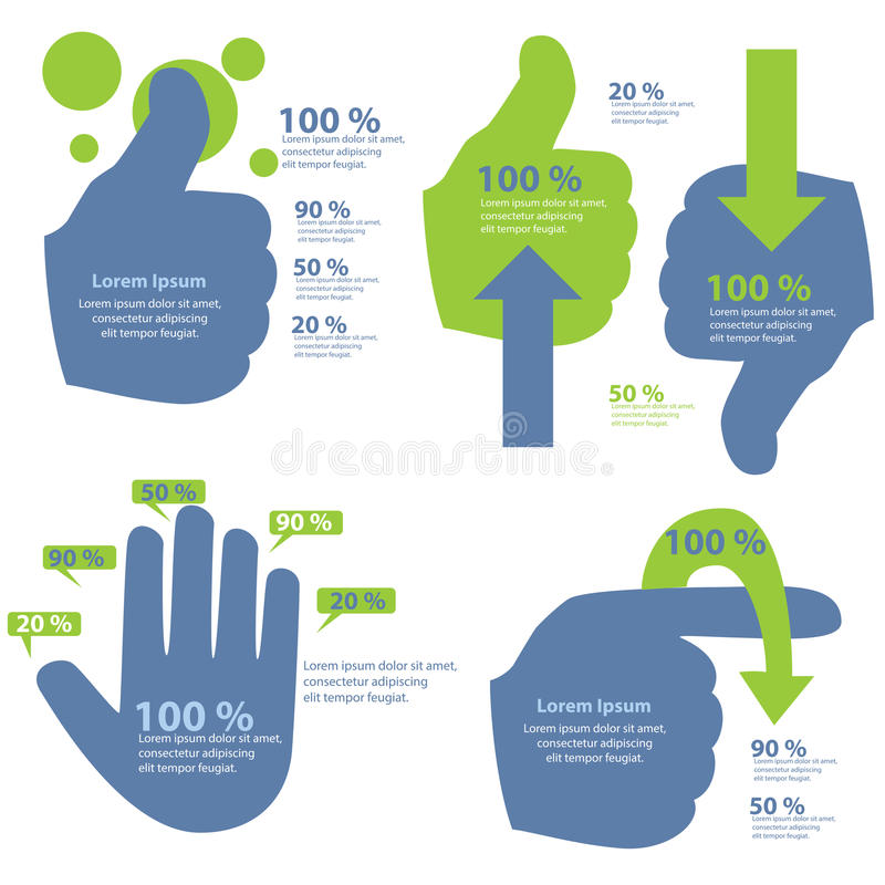 Información-gráfico de la mano stock de ilustración